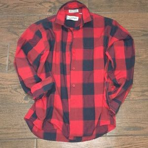 DVF Buffalo plaid lightweight cotton/polly shirt